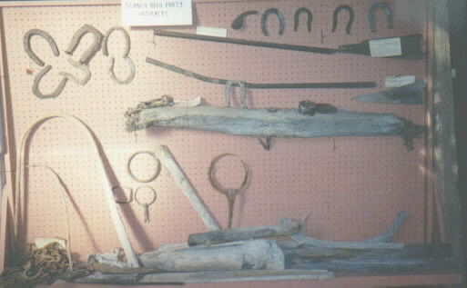 Photograph of wagon parts