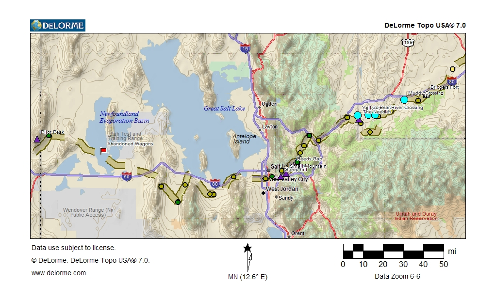 The Donner Party Route