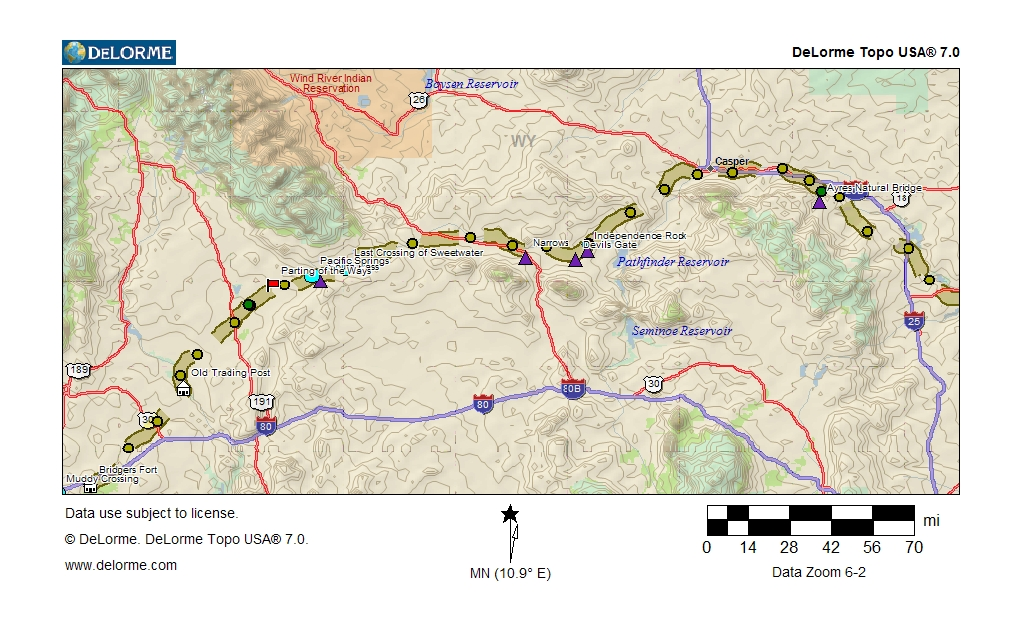 July 1847 Donner Party Map on