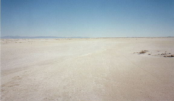 Photograph of salt desert